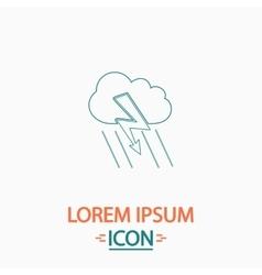 Thunderstorm computer symbol vector