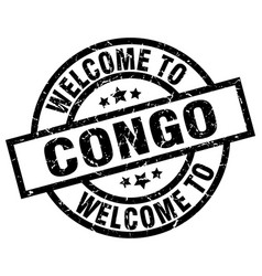 Welcome to congo black stamp vector