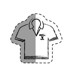 shirt golf uniform icon vector image
