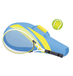 Tennis racket tennis ball sport equipment vector