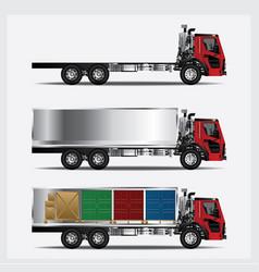 Cargo trucks transportation isolated vector