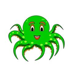 A funny cartoon octopus vector image