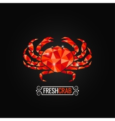 Crab seafood poly design background vector