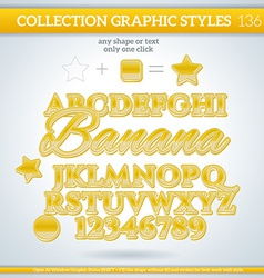 Banana graphic style for design vector