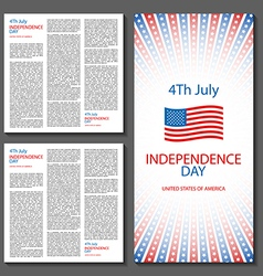 Happy independence day card united states of vector