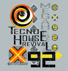 Tecno house vector