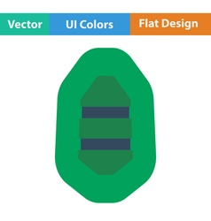 Flat design icon of rubber boat vector