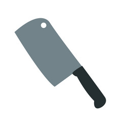 axe for meat kitchen object culinary vector image