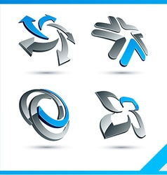 Blue 3d company signs vector image