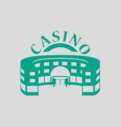casino building icon vector image vector image