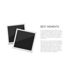 collect moments set polaroid photos vector image vector image