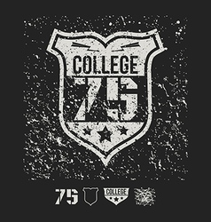 College sport emblem and design elements vector
