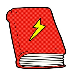 Comic cartoon magic spell book vector