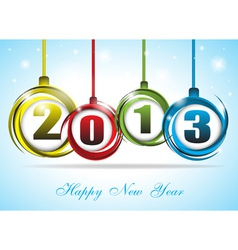 Cute and colorful card on New Year 2013 vector image vector image