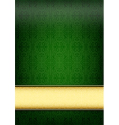 Green retro paper vector image vector image