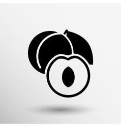 Healthy food logo design concept Fruit and juice vector image vector image