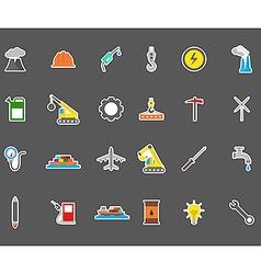 Industry stickers set vector image vector image