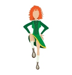 Irishstep dancer girl cartoon vector image