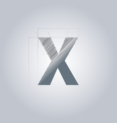 Letter x logo alphabet logotype architectural vector