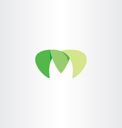 Logotype m green m letter logo icon element vector