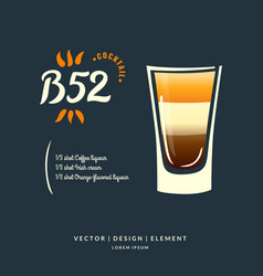 Modern hand drawn lettering label for alcohol vector