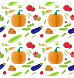 Organic food seamless pattern vector image