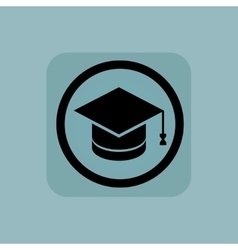 Pale blue graduation sign vector