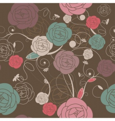Romantic wallpaper vector