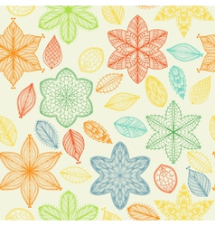 Seamless vintage spring hand drawn pattern vector image