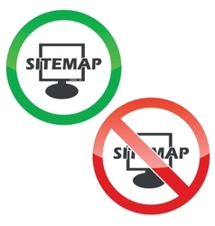 Sitemap permission signs set vector