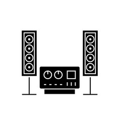 stereo sound hi-fi system icon vector image vector image