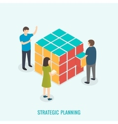 Strategic planning Teamwork concept vector image vector image