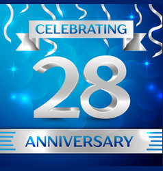 twenty eight years anniversary celebration design vector image vector image