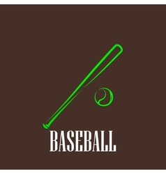 Vintage with a bat and a ball baseball symbol vector