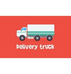 White delivery truck style of vector