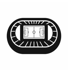 Stadium top view icon simple style vector image
