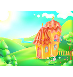 Colorful nature and home vector