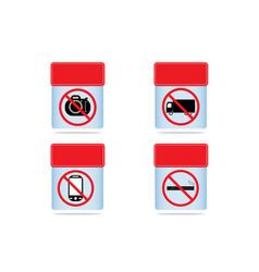 prohibition sign icon vector image