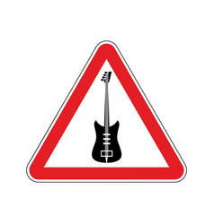 Rock and roll warning sign caution rock music vector