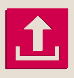 Upload sign grayscale vector