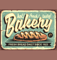 Bakery shop sign vector
