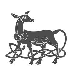 Ancient celtic mythological symbol of doe vector