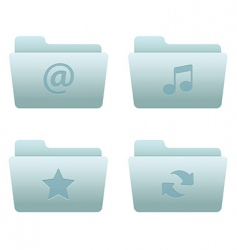Internet icons  folders vector