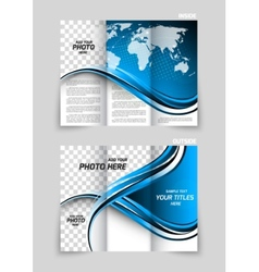 tri-fold brochure vector image