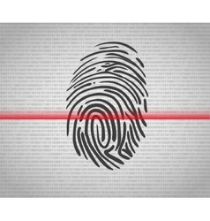 Fingerprint scanning vector