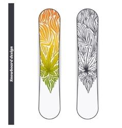 Snowboard Design Three vector image