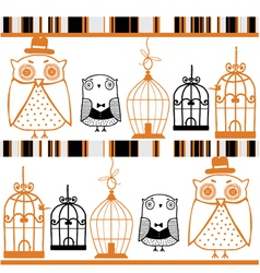 Owls background vector