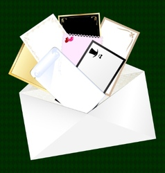 Envelope and blank cards vector