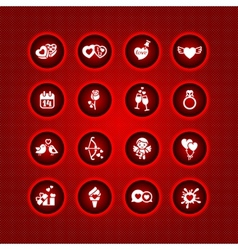 Set valentines day icons signs vector
