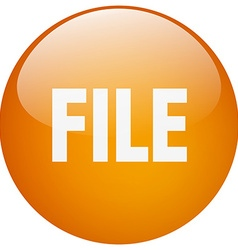 File orange round gel isolated push button vector